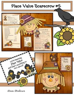 Decorate a scarecrow's head with paper, base 10 pieces, to create an interesting bulletin board, all while having a blast learning place value. Print & go patterns with 3 worksheets.