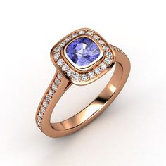 The Annabelle Ring #customizable #jewelry #tanzanite #diamond #rosegold #ring