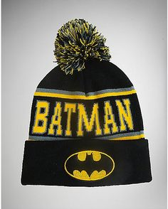 4f7624464a0 Batman Pom Knit Infant Toddler Hat - Spencer s Baby Boy Fashion