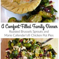 Roasted Brussels Sprouts and Marie Callender's® Pot Pies