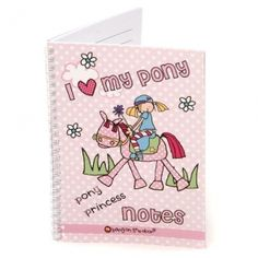 Cute and practical this lovely A5 notebook entitled 'I Love My Pony' has lined pages with a pretty pony in one corner and a heart in the opposing corner of each page. Perfect for writing special notes in or to give as a gift.  http://flyingfetlocks.com.au/products/I_Love_My_Pony_Notebook-107-49.html