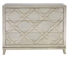 353-032 Odessa Drawer Cabinet | Bernhardt W 47.5 D 18.5 H 38 Silver Finish #LightFinish $2622.50 #4Foot