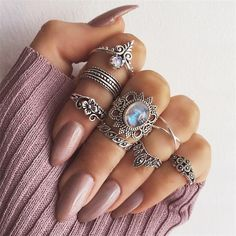 Bohemian Vintage Engagement Rings  Price: 12 & FREE Shipping  #fashion #womensfashion #happy #style #nature #animals #girls #beauty #love #womens #flowers #babies