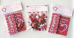 Free printable Valentine's treat bag toppers