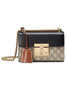 GUCCI Padlock Gg Supreme Shoulder Bag. #gucci #bags #shoulder bags #hand bags #canvas #suede #lining #