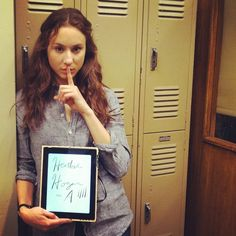 Troian Bellisario on Set of Pretty Little Liars Season 3
