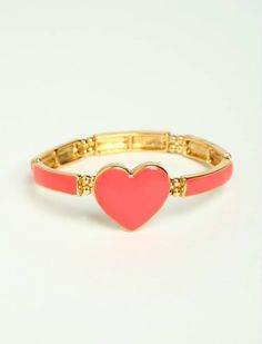 peach heart ring <3