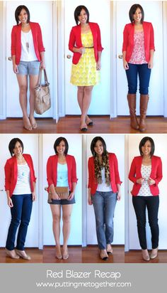 Recap: Red Blazer...more inspiration! Trying to learn how to dress myse;lf so i am not such a MESS