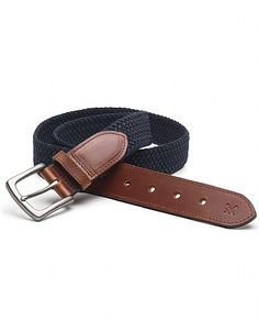 Crew Clothing Webbing Belt A webbed belt designed with a little stretch. Leather trim. Stylish and practical. • Webbing: 76% polyester, 24% polypropylene• Trim: 100% leather• Do not wash• Belt Dimonesions (inside buckle end to  http://www.MightGet.com/february-2017-2/crew-clothing-webbing-belt.asp