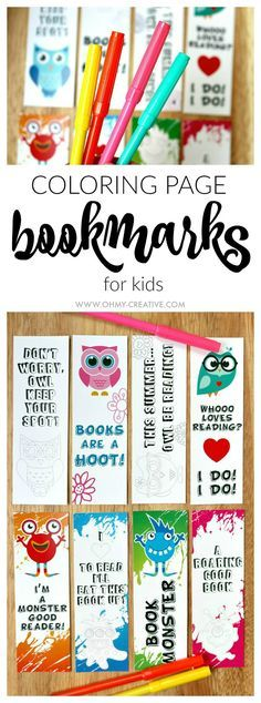 Use these adorable FREE PRINTABLE BOOKMARK COLORING PAGES to get the kids interested in reading and keep their place while they are reading a book from day to day. There are two set of coloring page bookmarks available: cute little monsters and fun adorab Free Printable Bookmarks, Bookmarks Kids, Free Printables, Bookmarks To Color, Reading Bookmarks, Handmade Bookmarks, Printable Crafts, Colouring Pages, Free Coloring