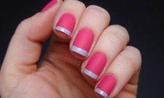 Unhas Francesinhas Coloridas: Como fazer - Passo a Passo - Como Fazer as unhas