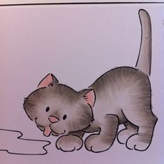 Jen's cat from her animal class #Copic