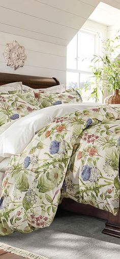 Thistle floral country bedding