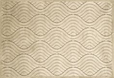 Cream wave pattered area rug with great texture  | Mentone Ave Area Rug BEIGE