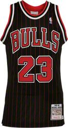 100% Authentic Michael Jordan Bulls Pinstripe Nike 8403 NBA Jersey ...