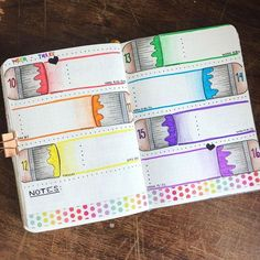 THE BEST rainbow themed bullet journal spread ideas! I'm so glad that I found these GREAT colorful bullet journal layouts! I'm going to try these bright maximalist bullet journal spreads myself! Bullet Journal Aesthetic, Bullet Journal Notebook, Bullet Journal 2019, Bullet Journal Ideas Pages, Bullet Journal Spread, Bullet Journal Inspiration, Bullet Journal Ideas Templates, Bullet Journal Inserts, Bellet Journal