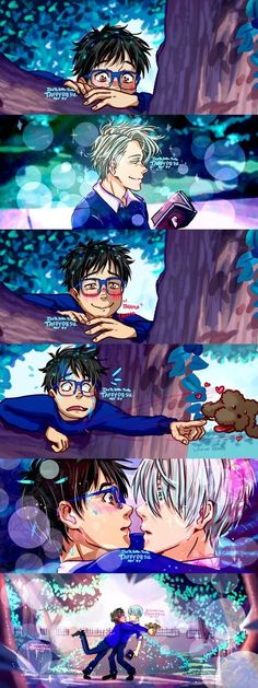 Yuri on Ice Howls Moving Castle by TaffyDesu on DeviantArt Manga Bl, Anime Manga, Victor Y Yuri, Yurio And Otabek, Yuri On Ice Comic, Katsuki Yuri, ユーリ!!! On Ice, Howls Moving Castle, Fanart