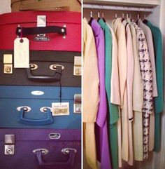 gorgeous spring coats and immaculate vintage luggage to match!