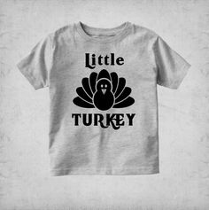 Little Turkey Youth T-shirt Toddler T-shirt Baby by UrbanChicKids