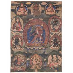Dorje Shugden on the horse is on the bottom left of this thangka of Vajrayogini. Vajrayogini is considered one of the 13 Golden Dharmas of the Sakya Tradition.