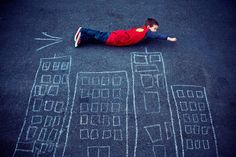 Superman And Chalk City Picture