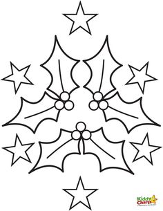 Holly Coloring Pages - #free #craft download