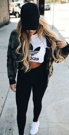 summer outfits  Black Cap + Army Jacket + White Printed Tee + Black Skinny Jeans