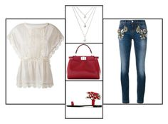 """""""Outfit # 3237"""" by miriam83 ❤ liked on Polyvore featuring Fendi, Giuseppe Zanotti, RED Valentino and Dolce&Gabbana"""