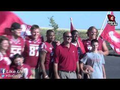 WSU football players deliver season tickets in Pullman. #GoCougs
