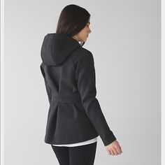 Lululemon go skyline Jacket This post workout wardrobe staple was designed to keep you cool yet cozy in chilly weather . Soft spacer fabric has 4 way stretch and helps lock in heat . Secure hand pockets and hidden sleeve pocket to stow essentials. lululemon athletica Jackets & Coats