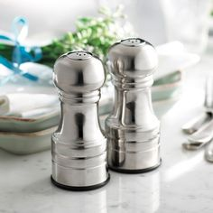 Trudeau|Stainless Steel Finish Salt and Pepper Shakers