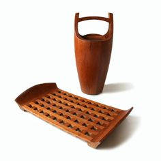 The infamous JHQ/IHQ teak ice-bucket inspired by Japanese water-buckets from the 1800 century with a touch of Scandinavian Viking-middle age design!