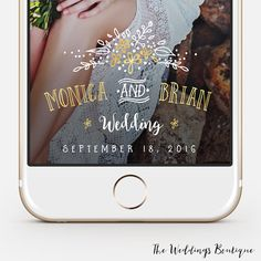 Wedding Snapchat Geofilter  fully by TheWeddingsBoutique on Etsy