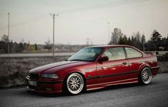 BMW E36 3 series red