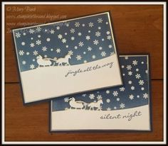 Silent Night Carriage Ride by MaryEB - Cards and Paper Crafts at Splitcoaststampers