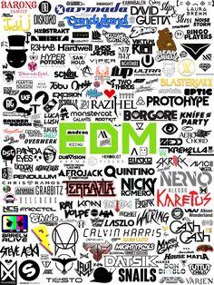 I made a collage of EDM artists & labels logos Krewella, Dj Logo, Trance Music, Edm Music, Asking Alexandria, My Chemical Romance, Electro Music, Best Dj, Edm Festival
