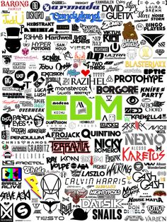 I made a collage of EDM artists & labels logos