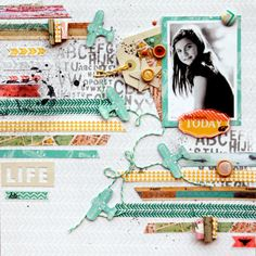 "Layout by DT Larissa Albernaz featuring ""Composition & Color"" line"