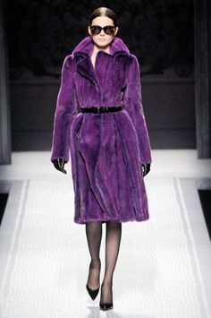 Purple fur - Alberta ferretti fall '12