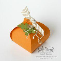 So cute!  Create a mini pumpkin using the Curvy Keepsake Box Thinlits Die. ~ Sarah Sagert