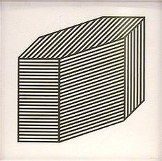 Isometric projection ink & pencil drawing on paper by Sol Lewitt 1981