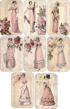 Decoupage Vintage, Éphémères Vintage, Images Vintage, Decoupage Paper, Vintage Crafts, Vintage Labels, Vintage Ephemera, Vintage Girls, Vintage Pictures