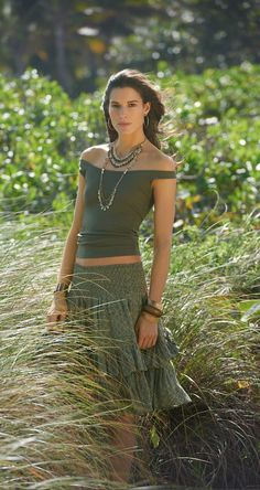Summer Heat: With rich earth tones and sensual silhouettes, the new arrivals from Lauren Ralph Lauren conjure an exotic mood