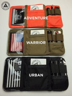 Eric Bauer a. is raising funds for The CORE Nano Adventure Wallet on Kickstarter! A rugged, compact, lightweight wallet made in the USA designed to keep up with your adventurous lifestyle! Survival Equipment, Survival Tools, Camping Survival, Survival Prepping, Camping Gear, Camping Puns, Car Survival Kits, Camping Dishes, Camping Foods