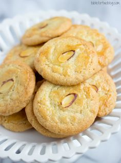 Chinese almond crisp cookies from tablefortwoblog.com