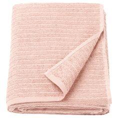 IKEA - Drap de bain VÅGSJÖN - rose pâle, Longueur: 150 cm, Largeur: 100 cm, Superficie: m², Grammage: 400 g/m²