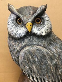 My eBay Active Painting Leather, Painting On Wood, German Folk, Owl Crafts, Horned Owl, Chainsaw Carvings, Art Carved, Primitive Folk Art, Old Antiques