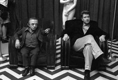 David Lynch on the set of Lost Highway