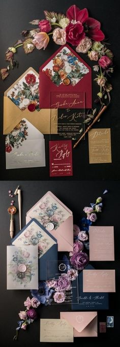 Floral party theme! Perfect for bridal showers, her birthday, weddings, and more! VENUE 221 adores these invitations, cakes, decorations and more, all floral themed! #flowers #FlowerTheme #weddinginvitations #weddinginspiration