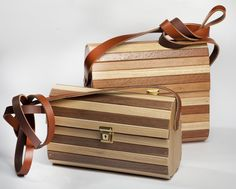 Handcrafted Designer Wooden Bag with adjustable genuine leather strap , very light in weight , strong quality , water resistant and durable . Wooden Bag, Cape Town, Strong, Water, Bags, Design, Home Decor, Gripe Water, Handbags